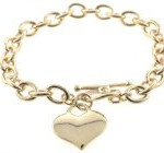 Gold Charm Heart Bracelets