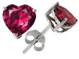silver ruby earrings