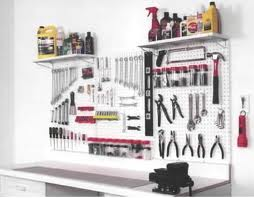 garage storage solutions and pegboard