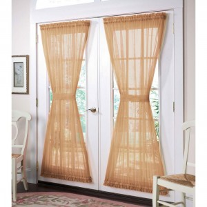 french door curtain panels image