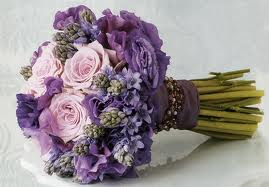 Purple Wedding Flowers And Church Decorations
