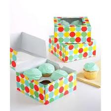 colorful cupcake boxes and inserts