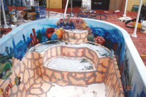 custom airbrushed painted swimming pool image