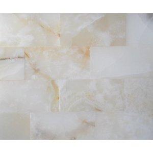polished subway brick shower tiles