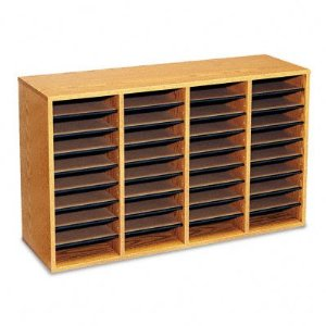 ooden wall mounted storage rack with slots