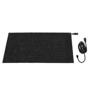 heated winter door mat