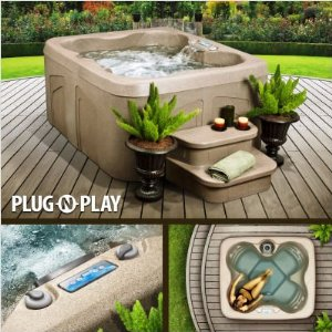image of a plug and play hot tub