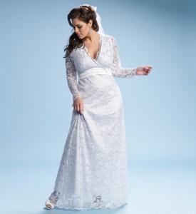 image of plus sized lace wedding dress