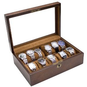 vintage wood watch box