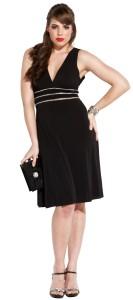 plus sized cocktail dress - black
