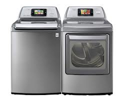 LG smart washer and dryer combo image