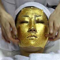 gold leaf mask beauty treatment image