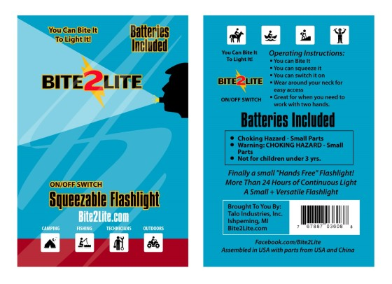 small led flashlight the bite2lite details page image